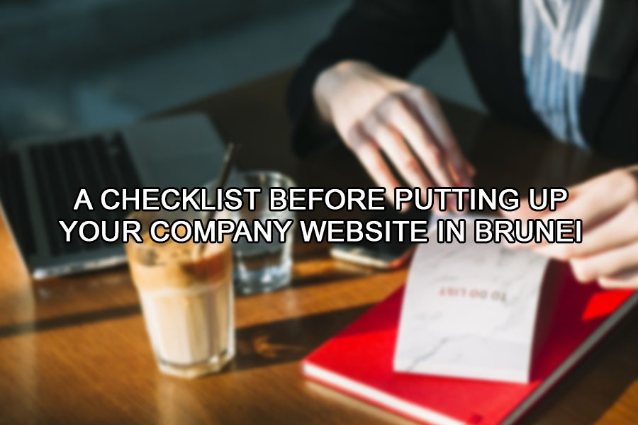 A Checklist Before Putting up Your Brunei Company Website